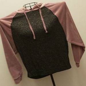 Pink Republic Knit and Velour Hoodie - S